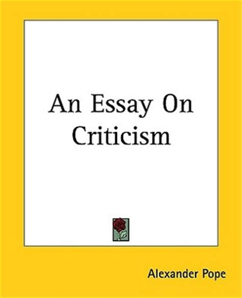 Translation of essay on criticism by alexander pope